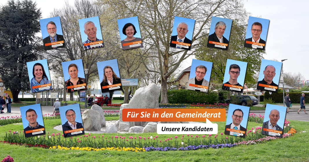 Unsere Kandidatinnen und Kandidaten für den Gemeinderat